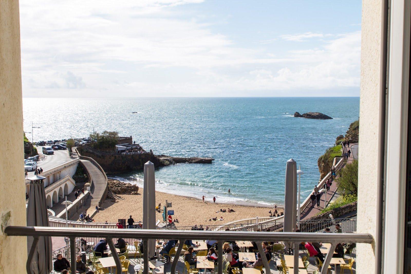 Les Baigneuses Biarritz vue