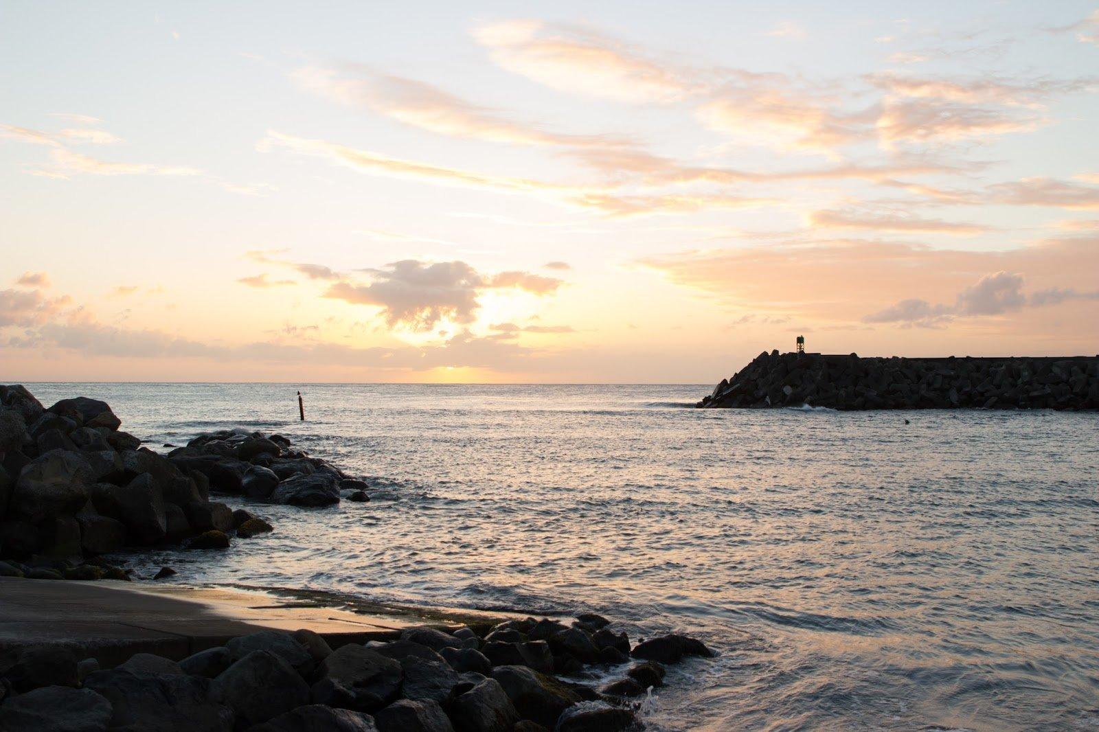 Nord de la Martinique coucher de soleil
