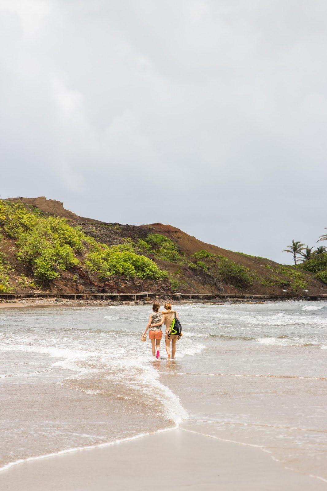 Tombolo Nord de la Martinique