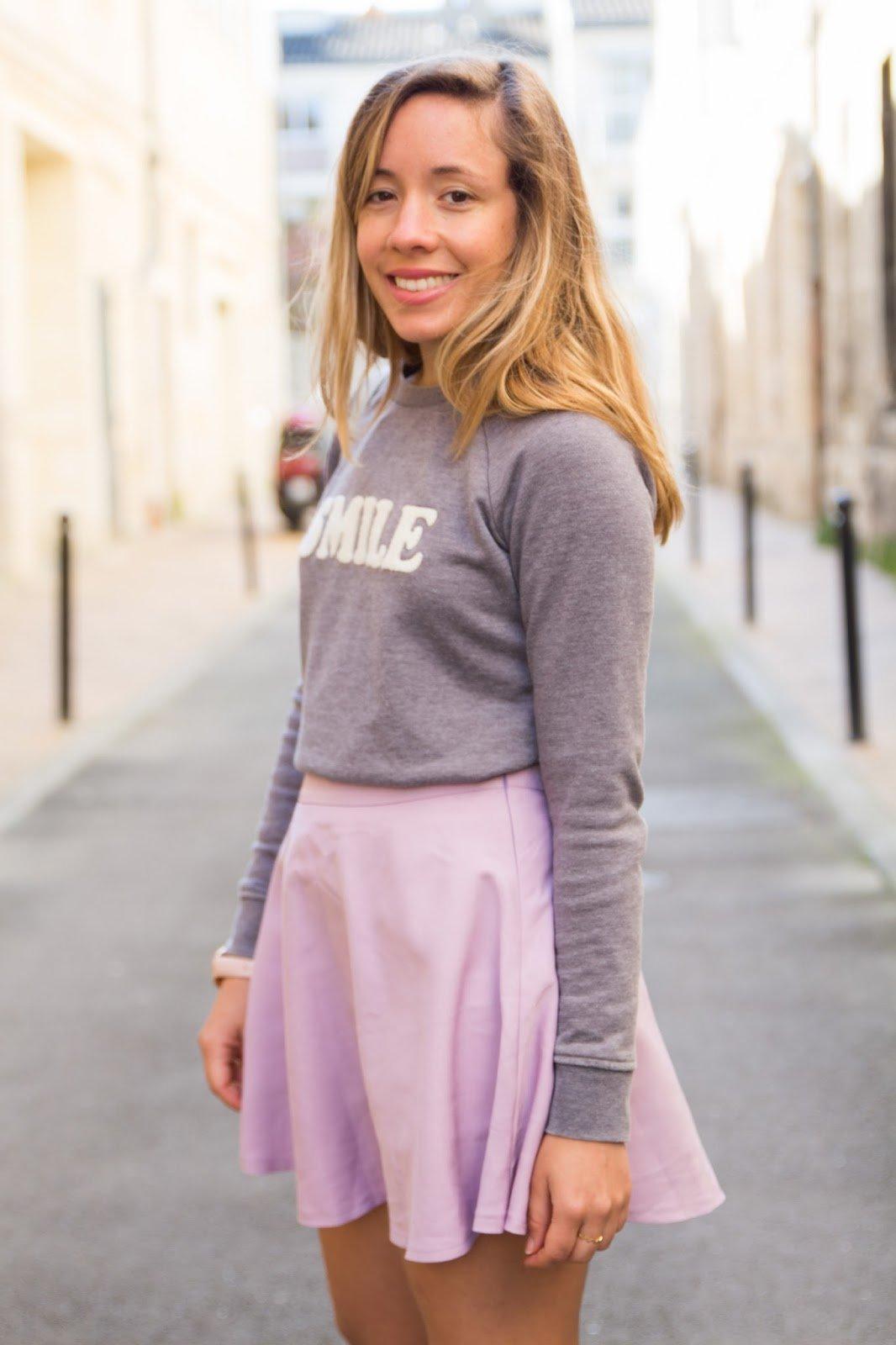 jupe violette printemps