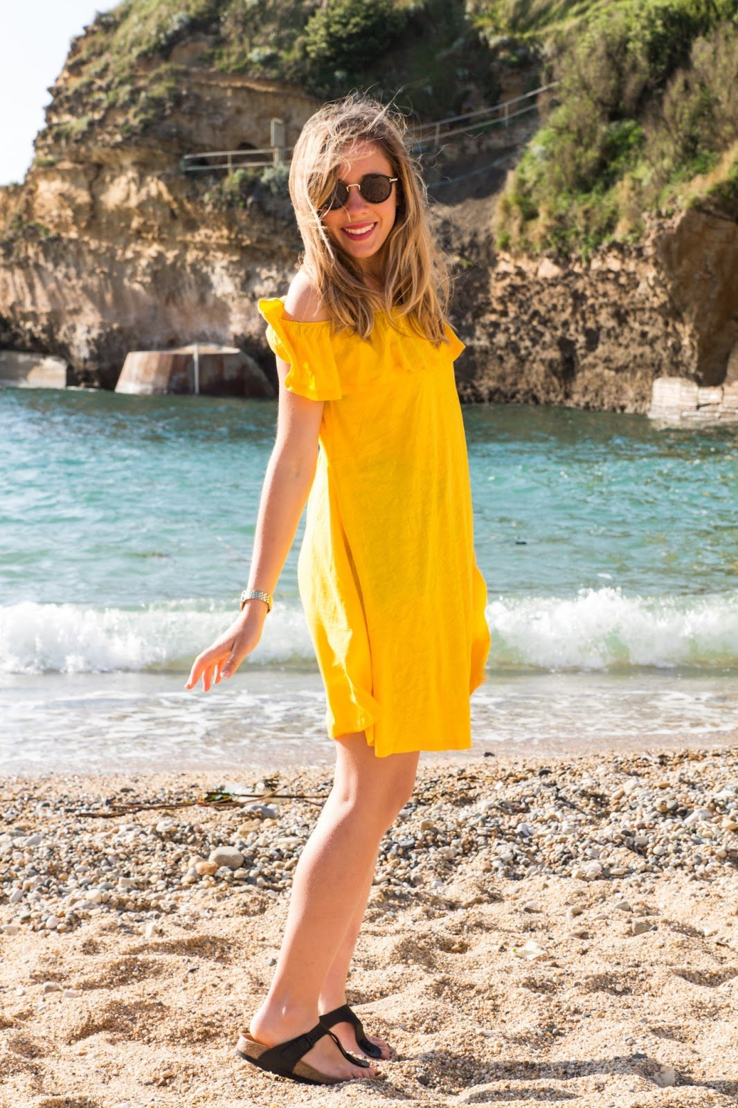 robe jaune ba&sh