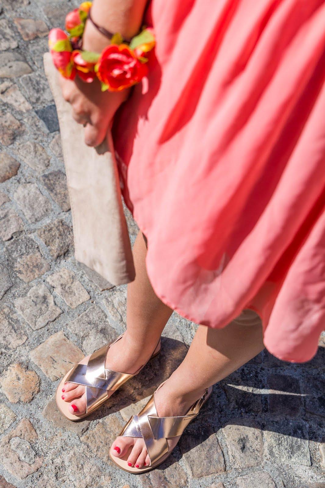 sandales cuivre Jonac