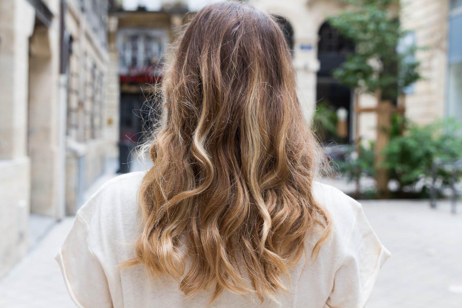 coiffure ondulé blonds