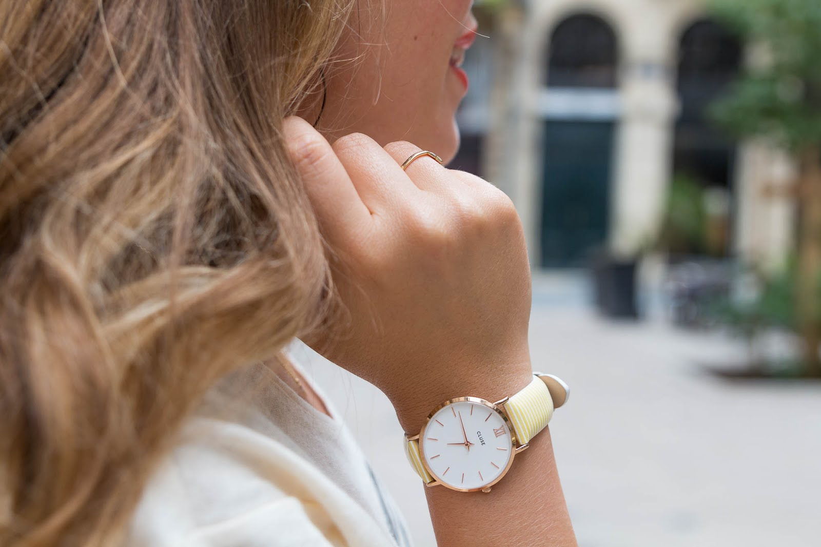 Montre rayures Cluse