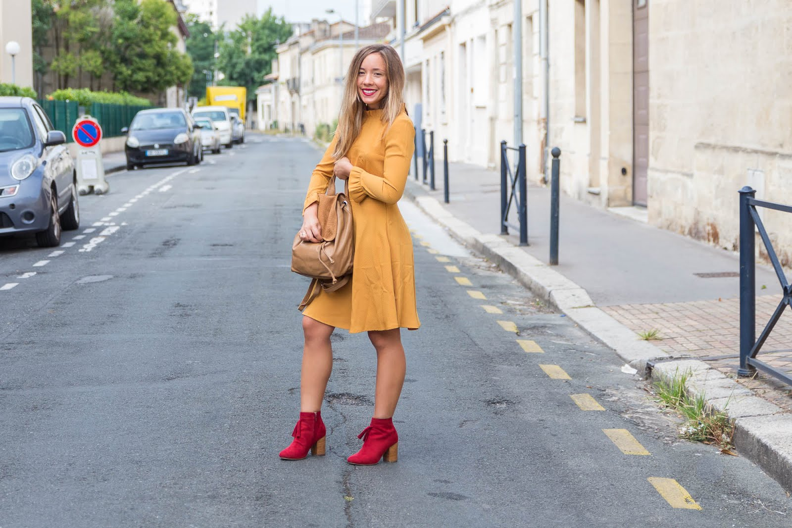 Robe jaune moutarde La Redoute