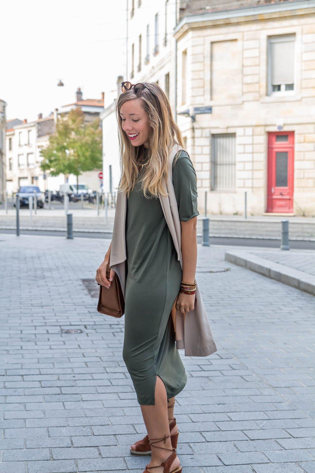 Kaki beige camel blog mode la penderie de chloe for Robe de cocktail combiné avec bracelet hipanema bordeaux
