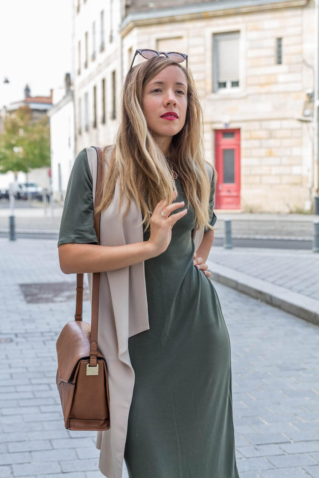 robe longue kaki