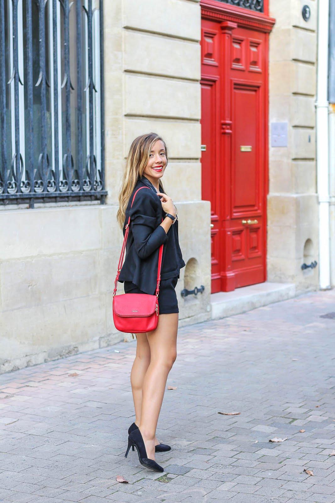 tenue rouge noir Le rouge Givenchy