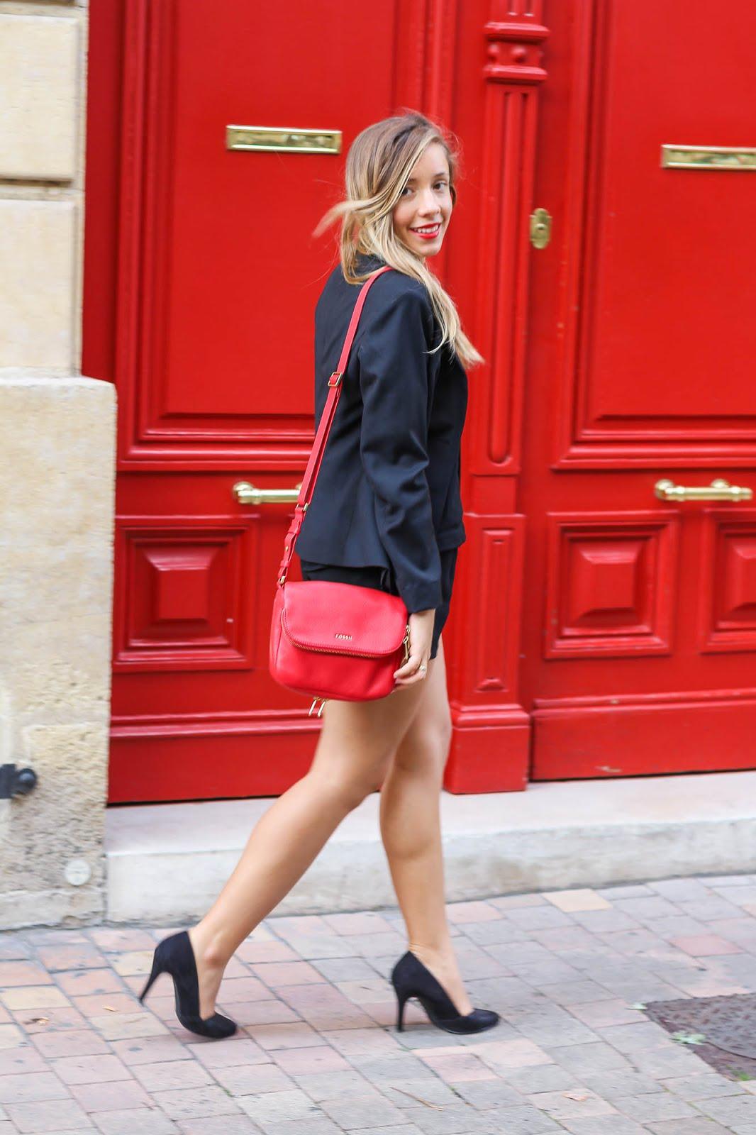 blog mode tenue rouge noir Le rouge Givenchy