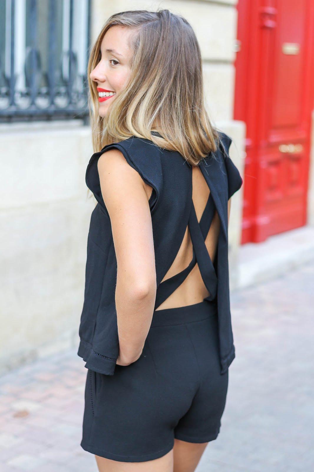 combishor noir dos nu Le rouge Givenchy