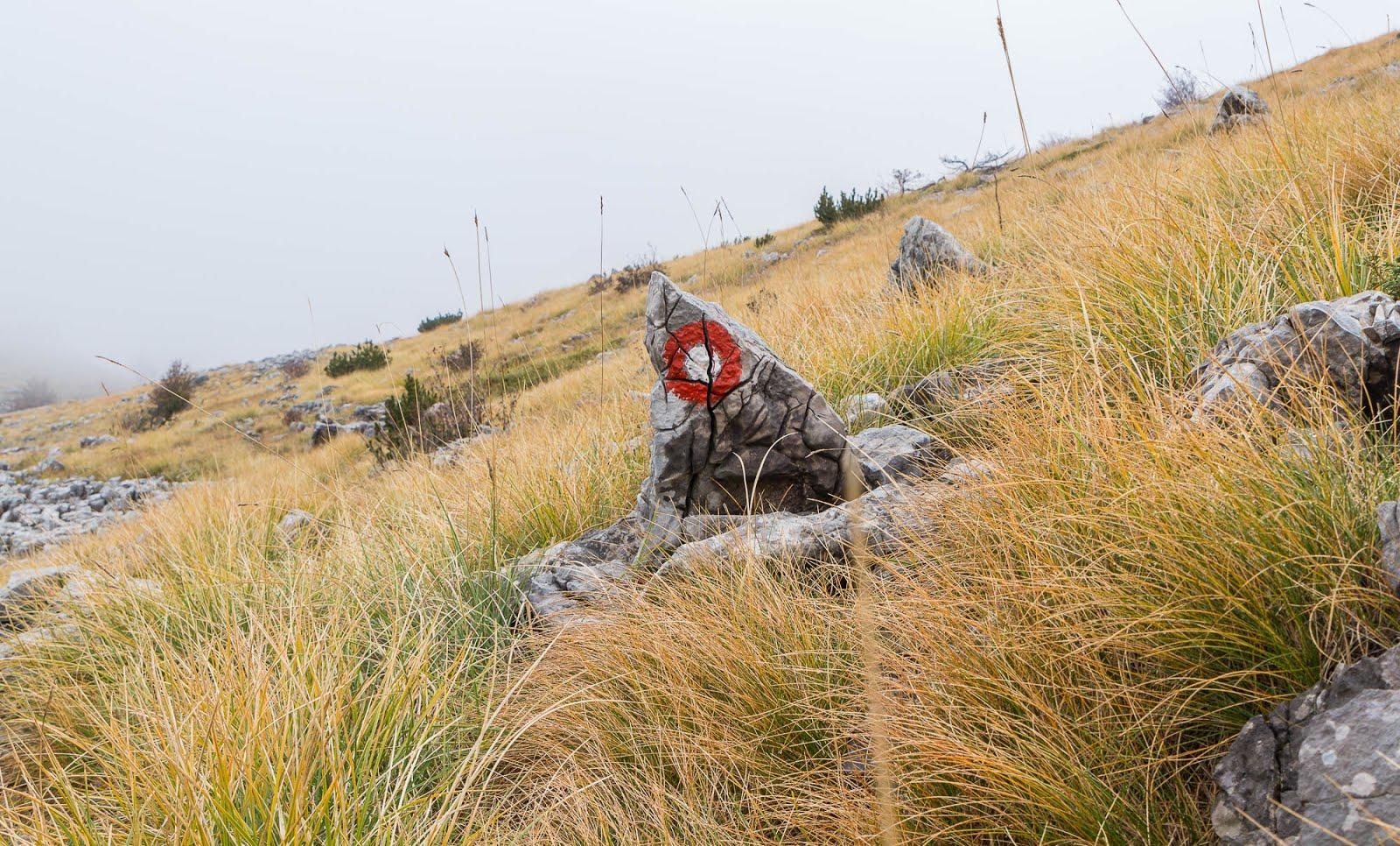 Randonnée Croatie marquage
