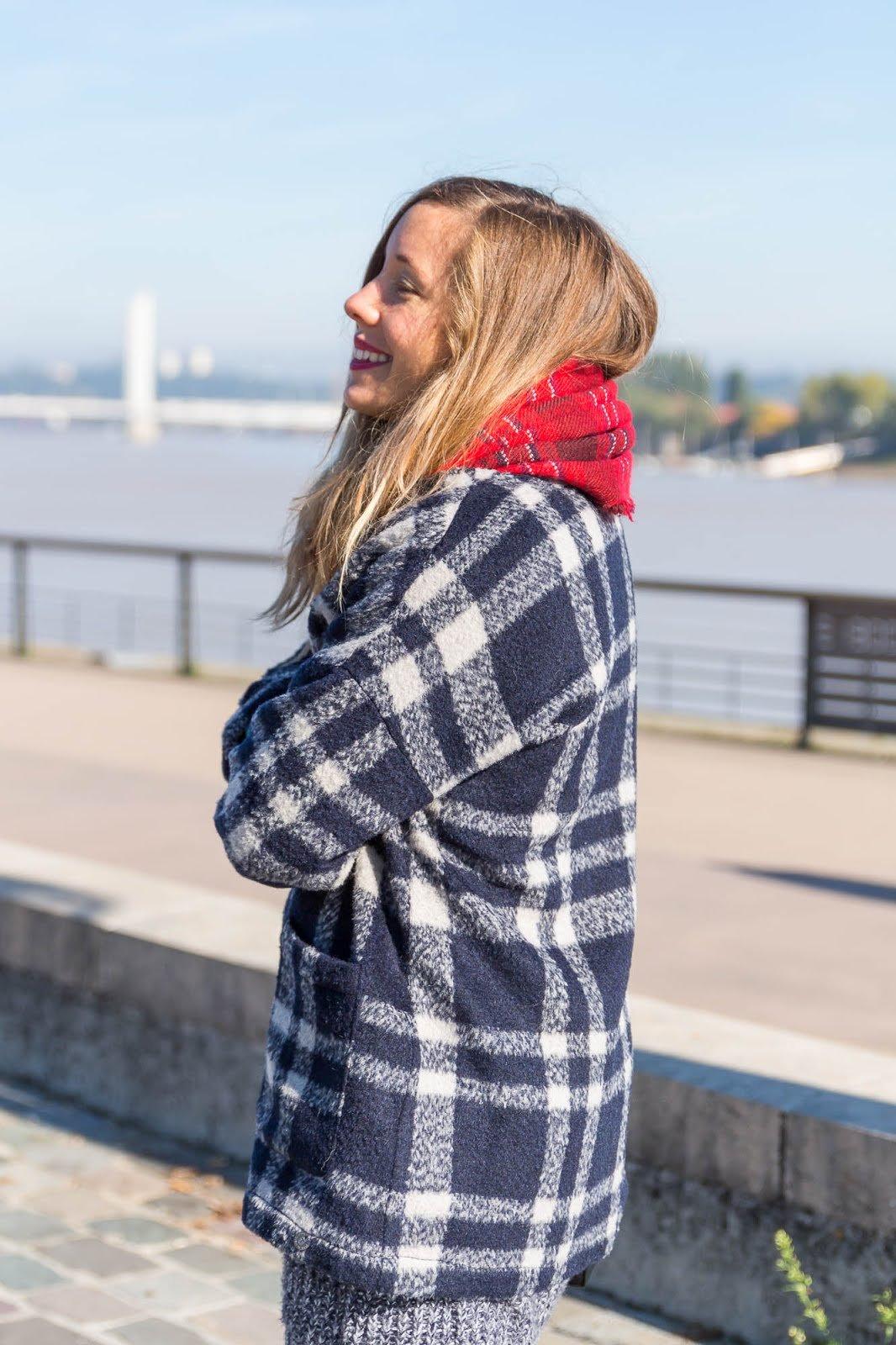 veste à carreaux automne