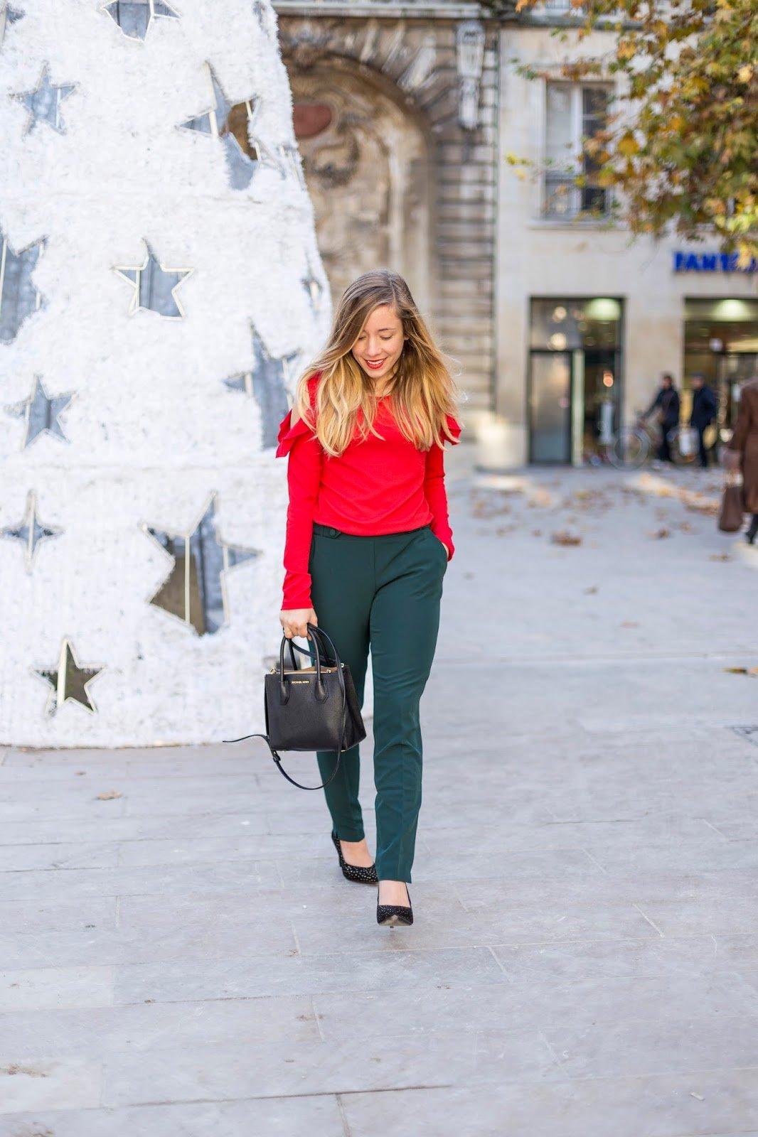blog mode couleurs rouge vert sapin