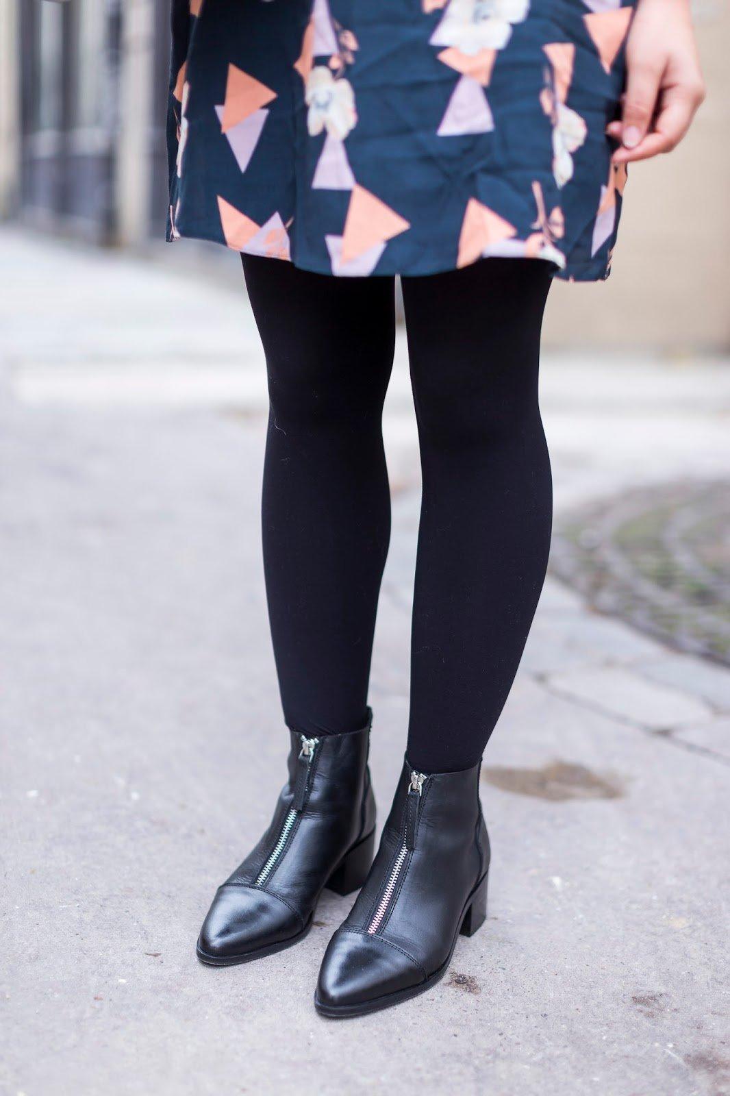 bottines noir zip