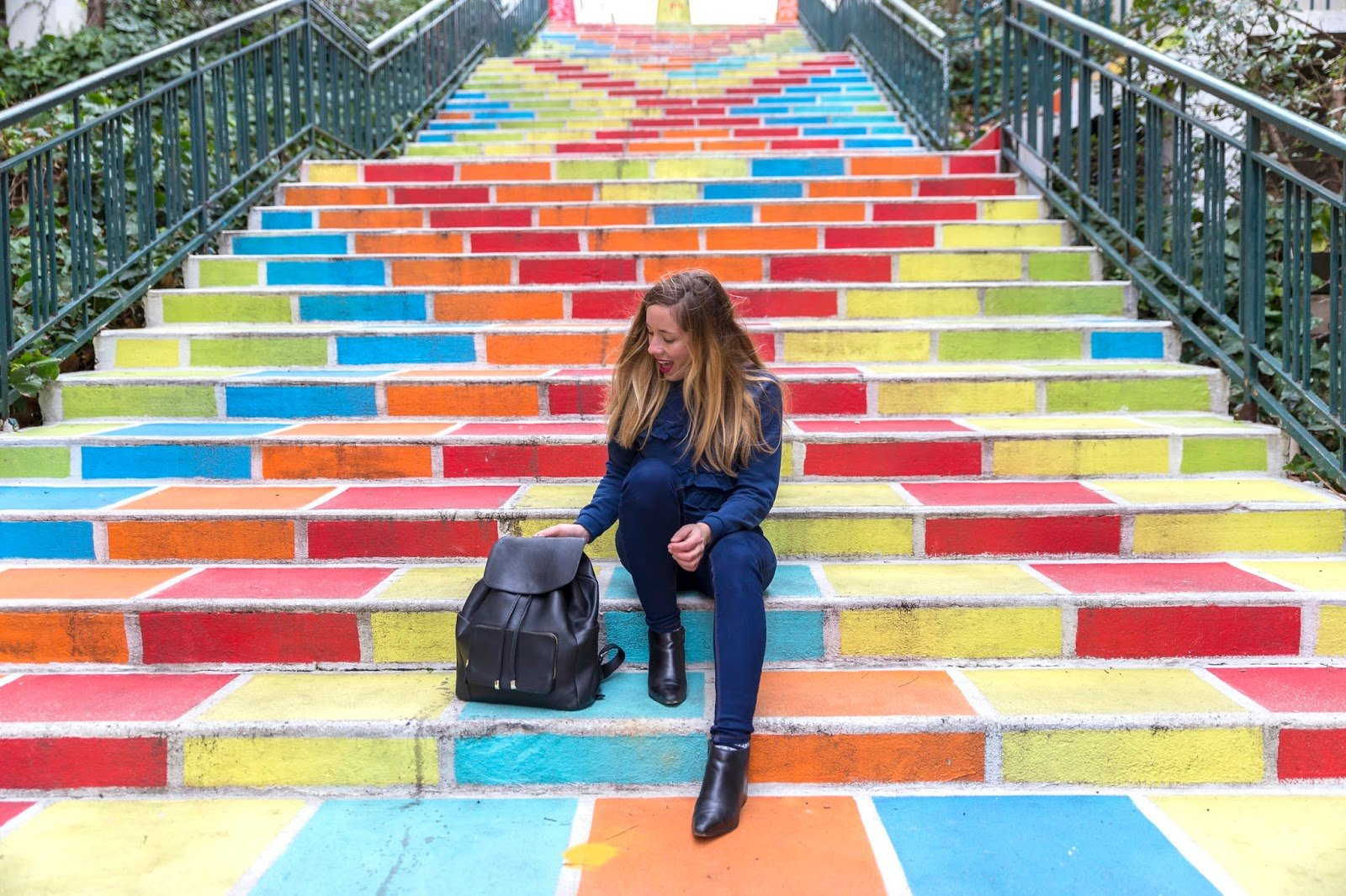escaliers colorés Lyon