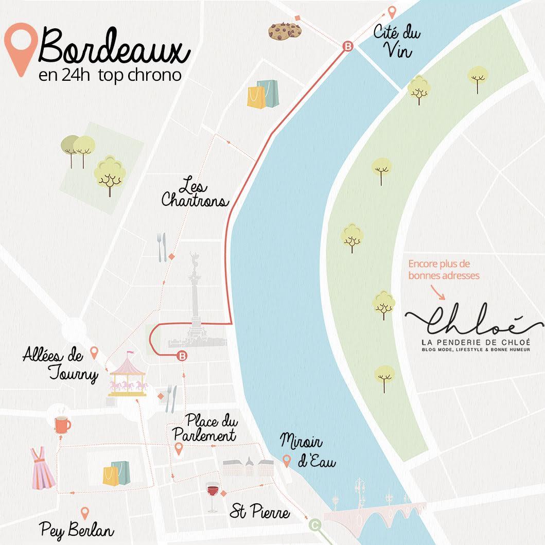 Carte illustrée visiter Bordeaux