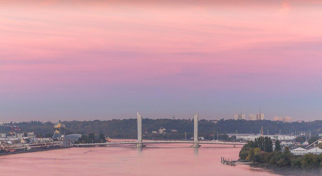 visiter bordeaux pont chaban delmas coucher de soleil
