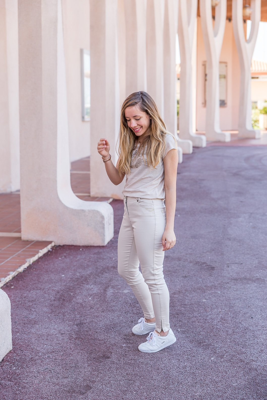 pantalon beige Elora