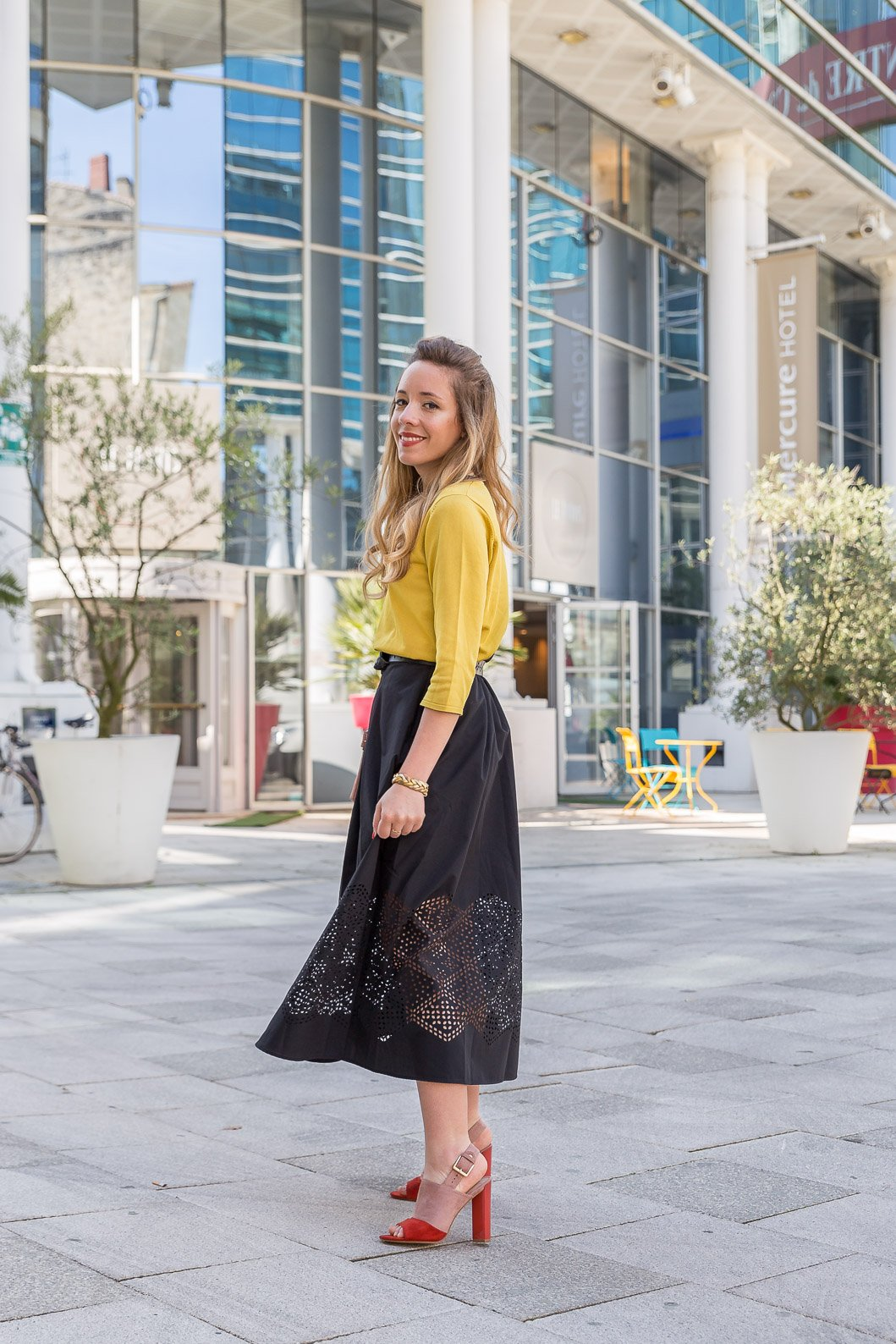 blog mode tenue printemps look Zeste de citron