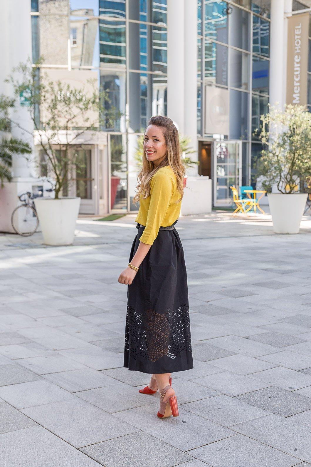 blogueuse mode tenue du jour printemps look Zeste de citron