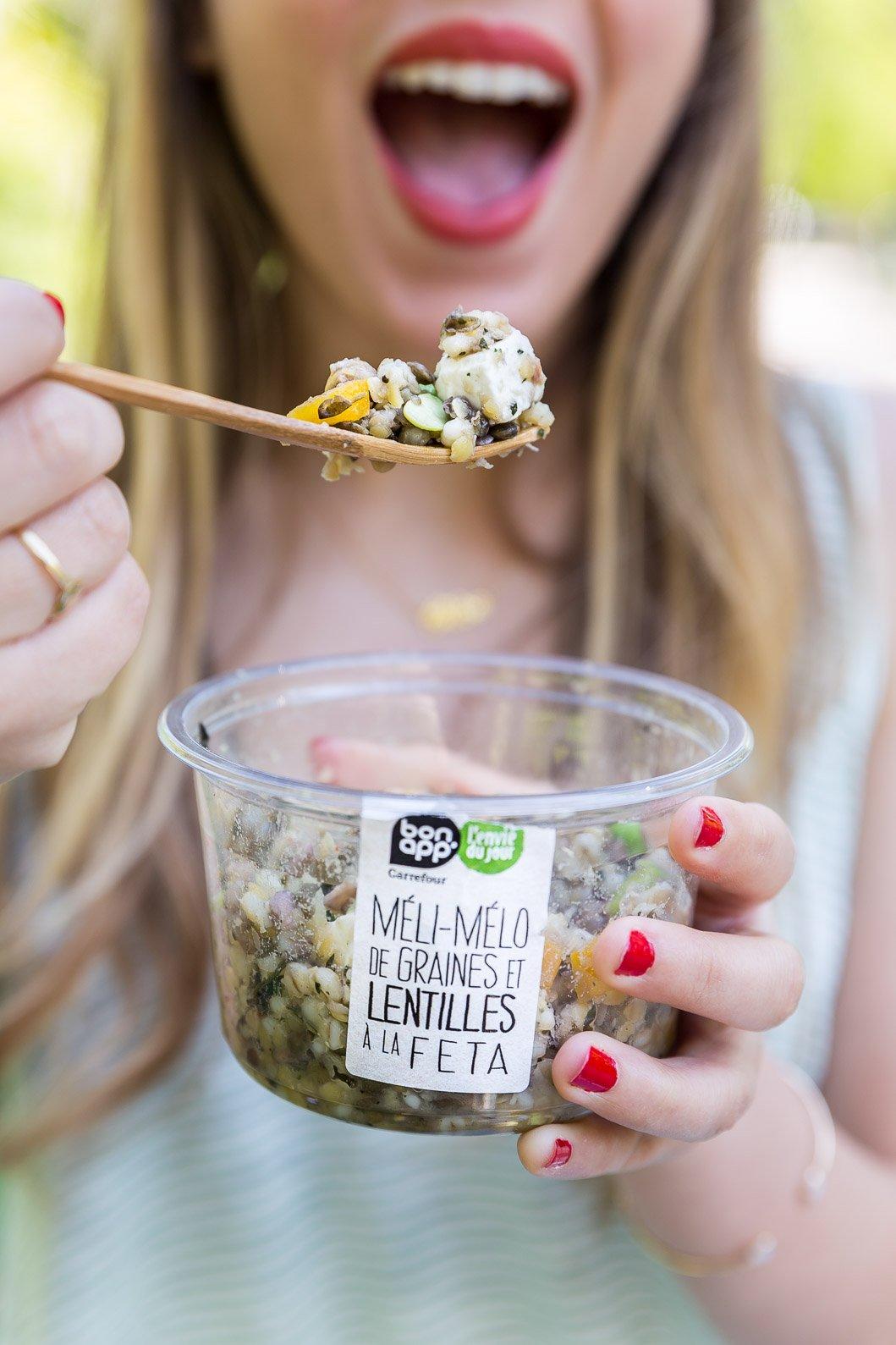 Salade graines lentilles carrefour