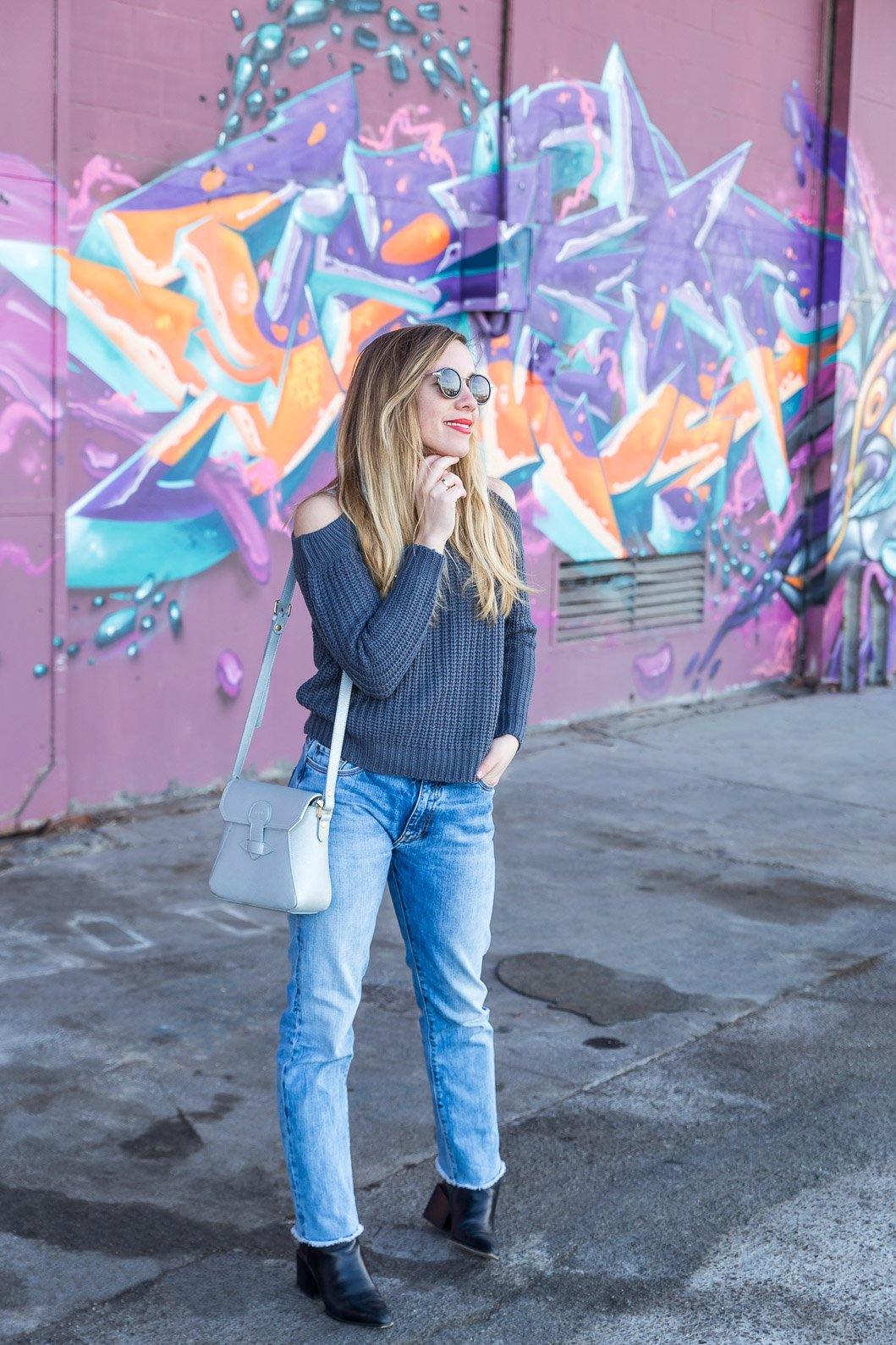 blogueuse total look denim jean