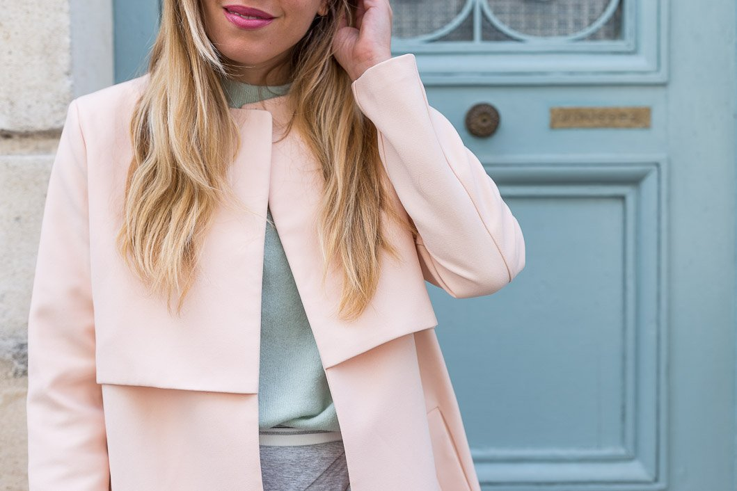 Manteau rose la redoute total look pastel