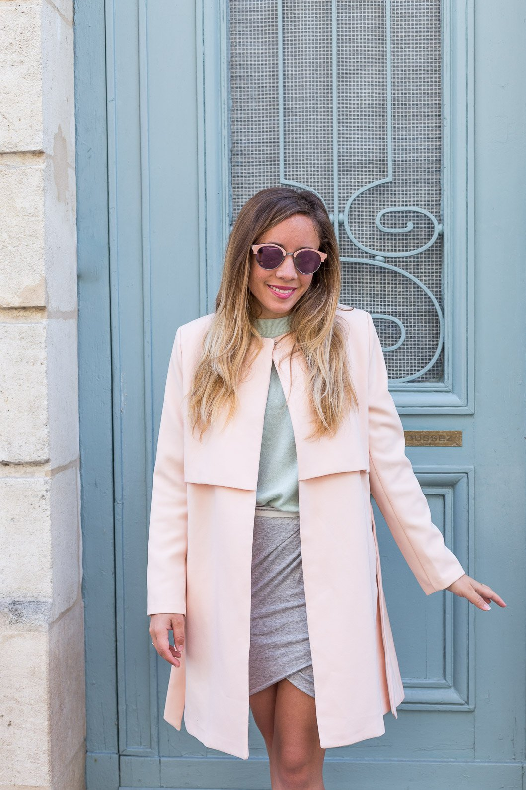 Veste trench printemps rose la redoute total look pastel