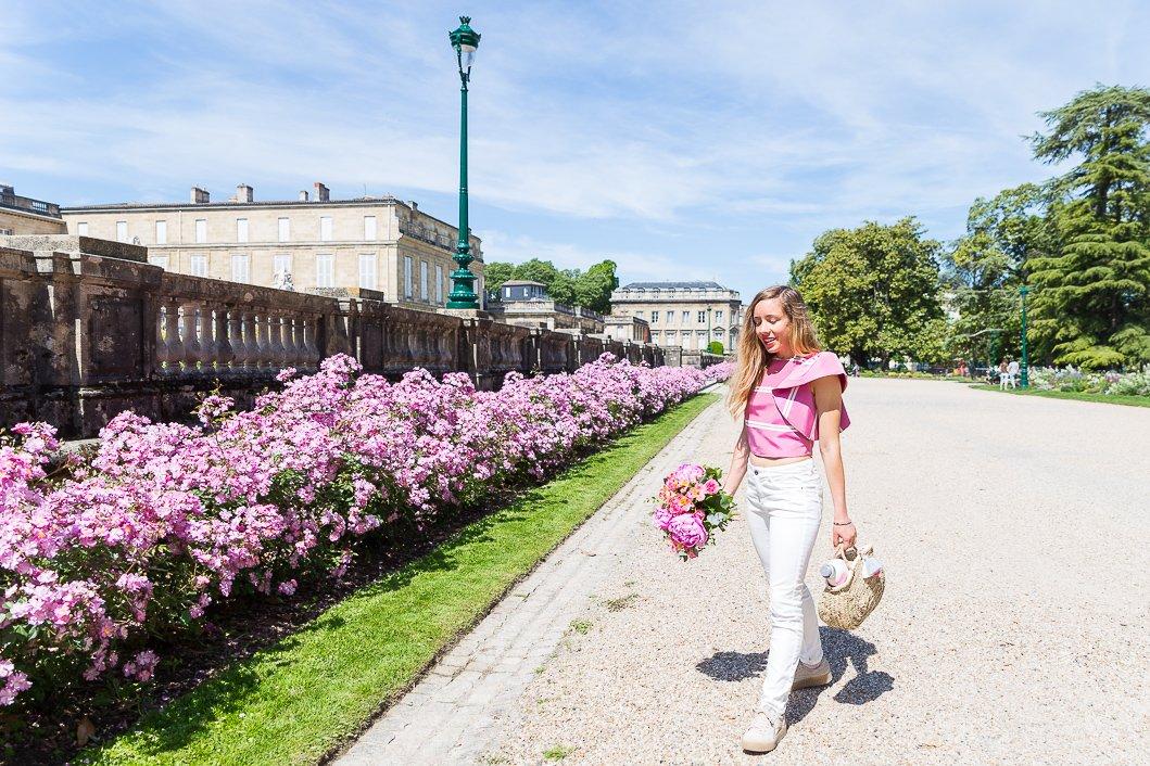 blogueuse mode tenue rose