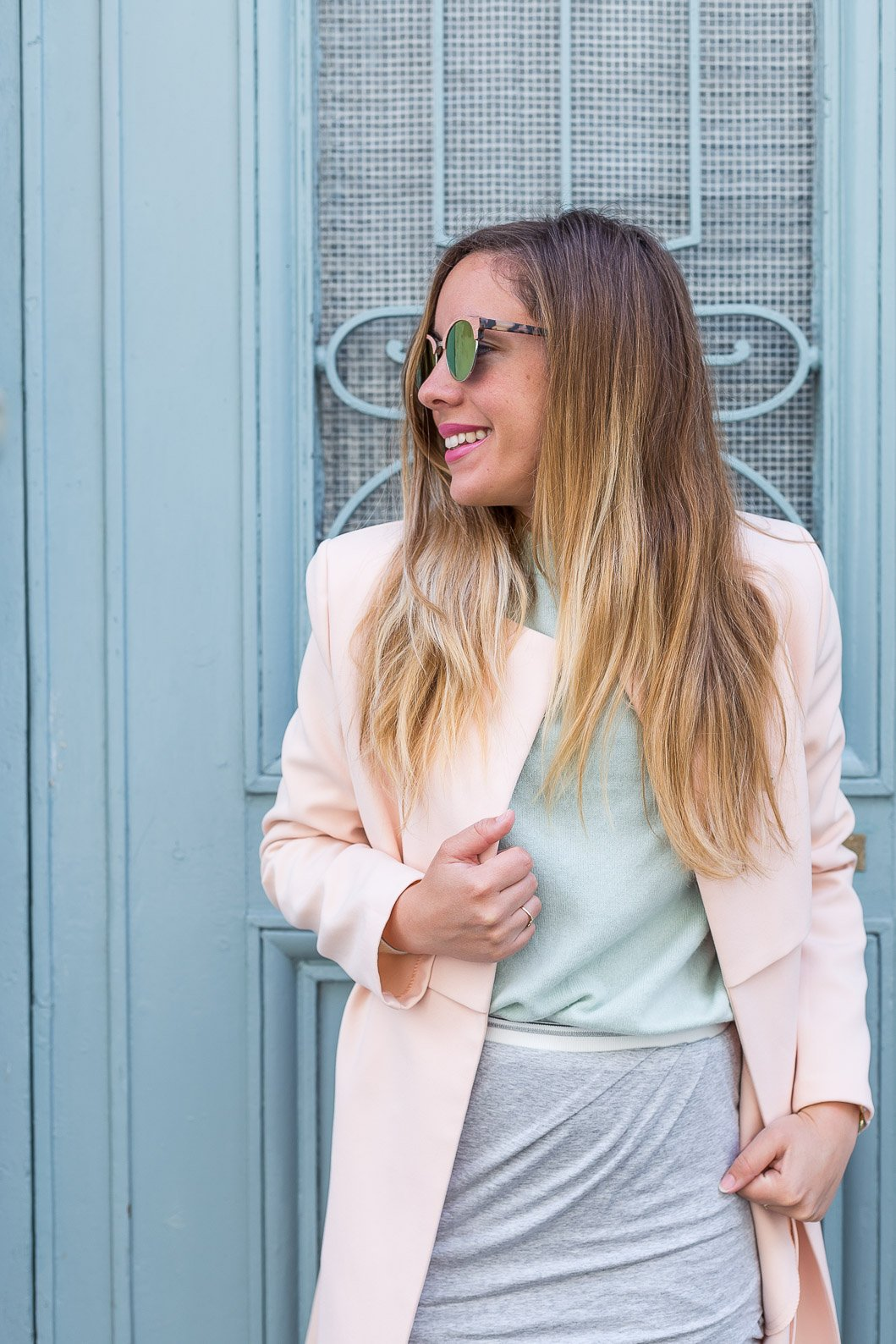 Tenue printemps couleurs total look pastel