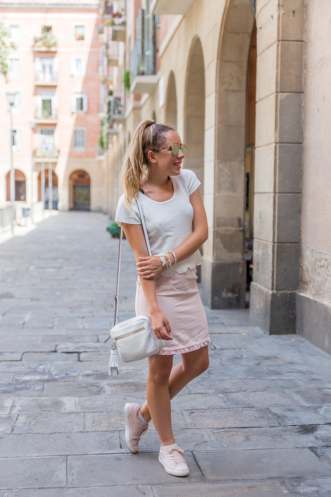 Blog mode tenue été rose blanc