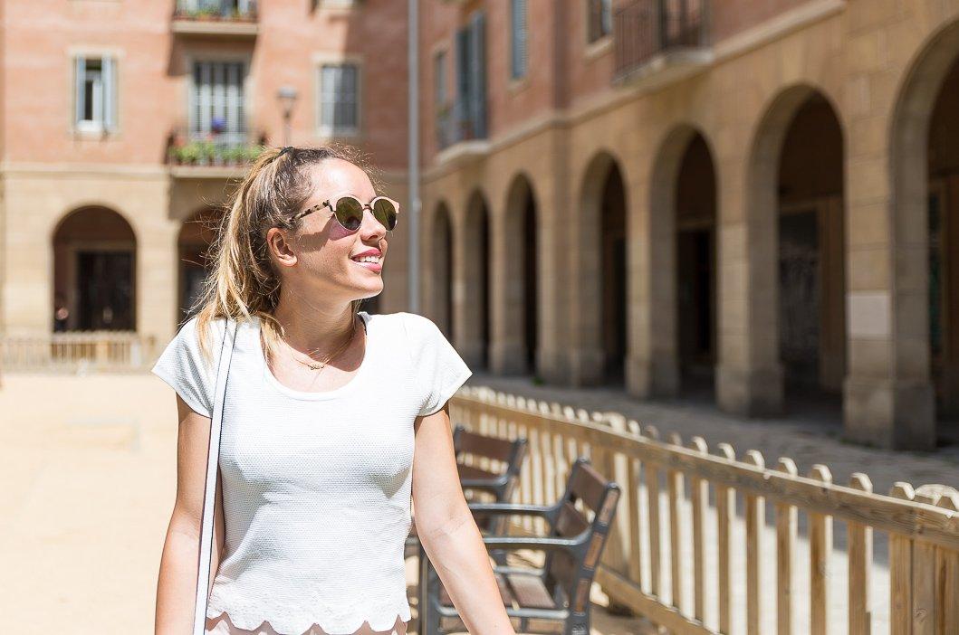 t-shirt blanc feston kookaï