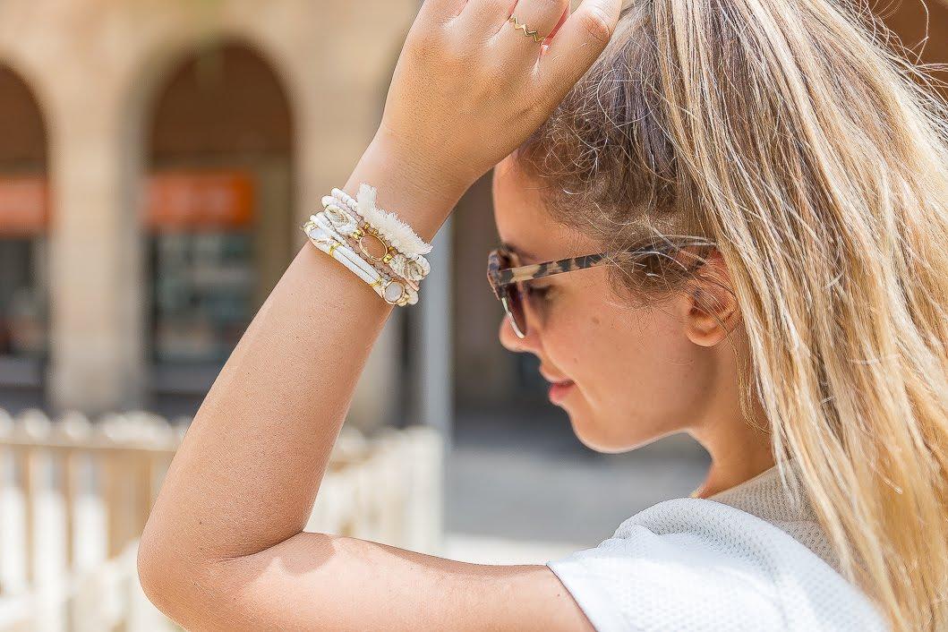 Bracelet Hipanema blanc