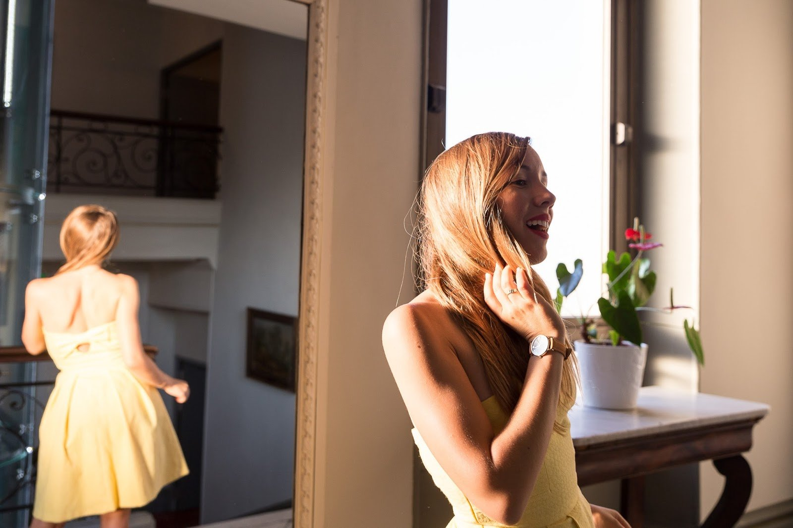 robe jaune bustier idée tenue mariage