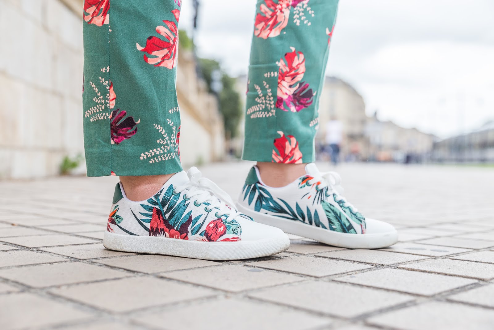 Sneakers imprimé Tropical