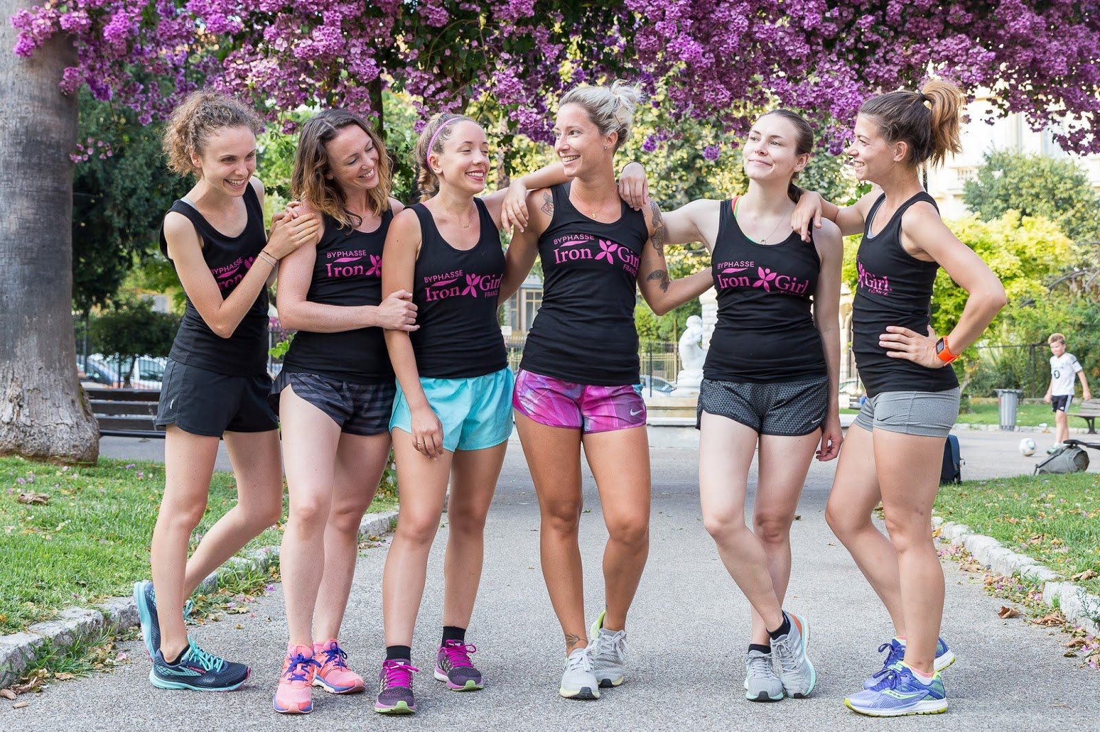 Byphasse Iron Girl Happy Running Crew