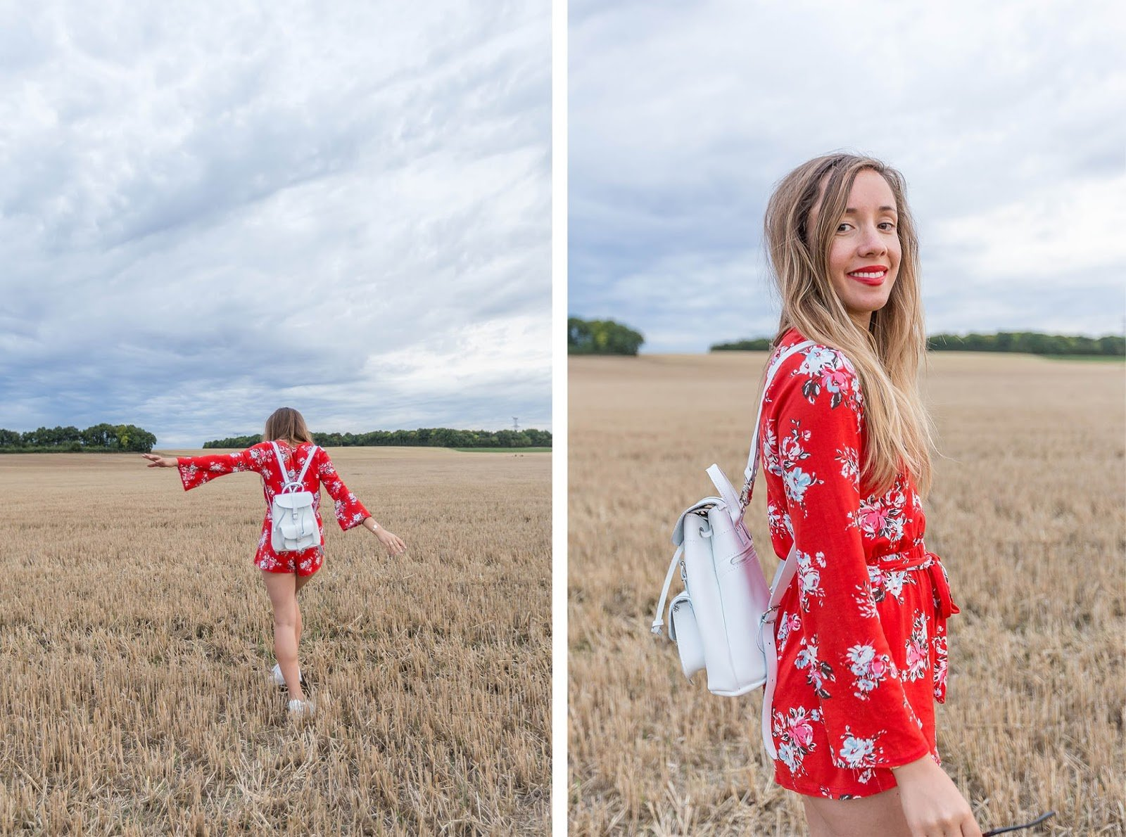 combishort manches longues rouge Boohoo