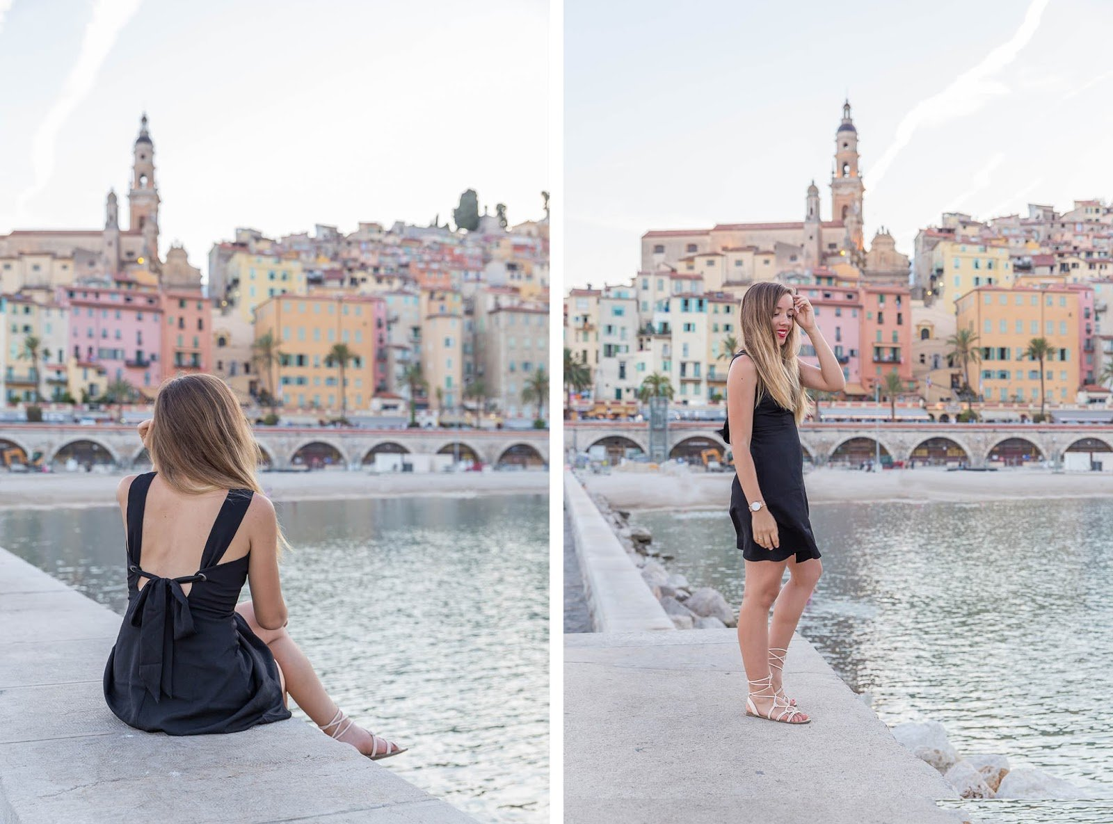 Blogueuse mode robe noire dos nu
