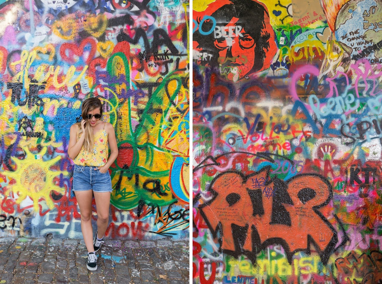 Mur tag John Lennon Wall Prague
