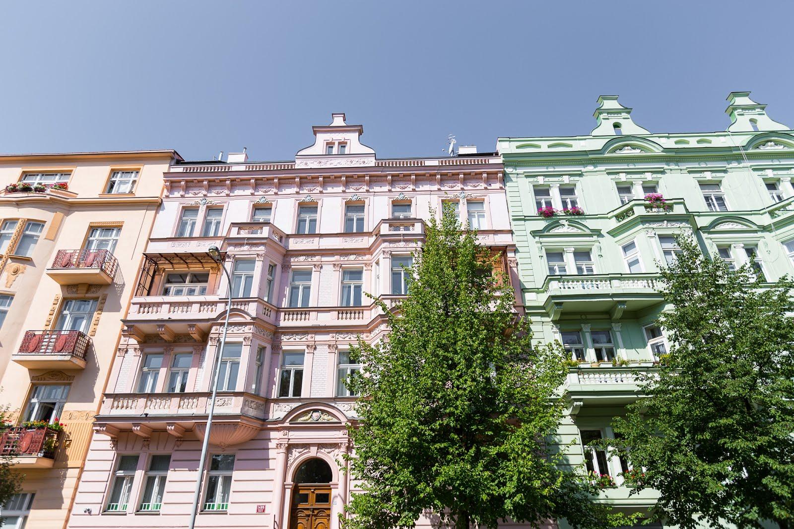 Prague maisons colorées