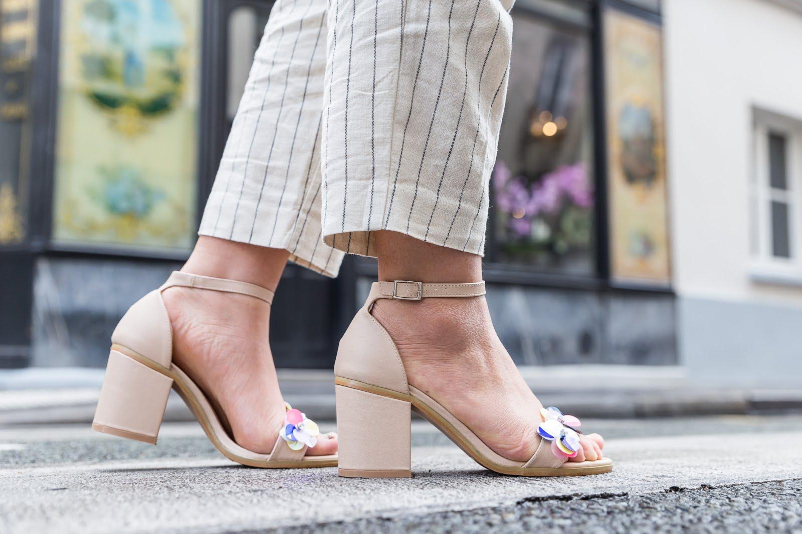 Sandales beiges Boohoo
