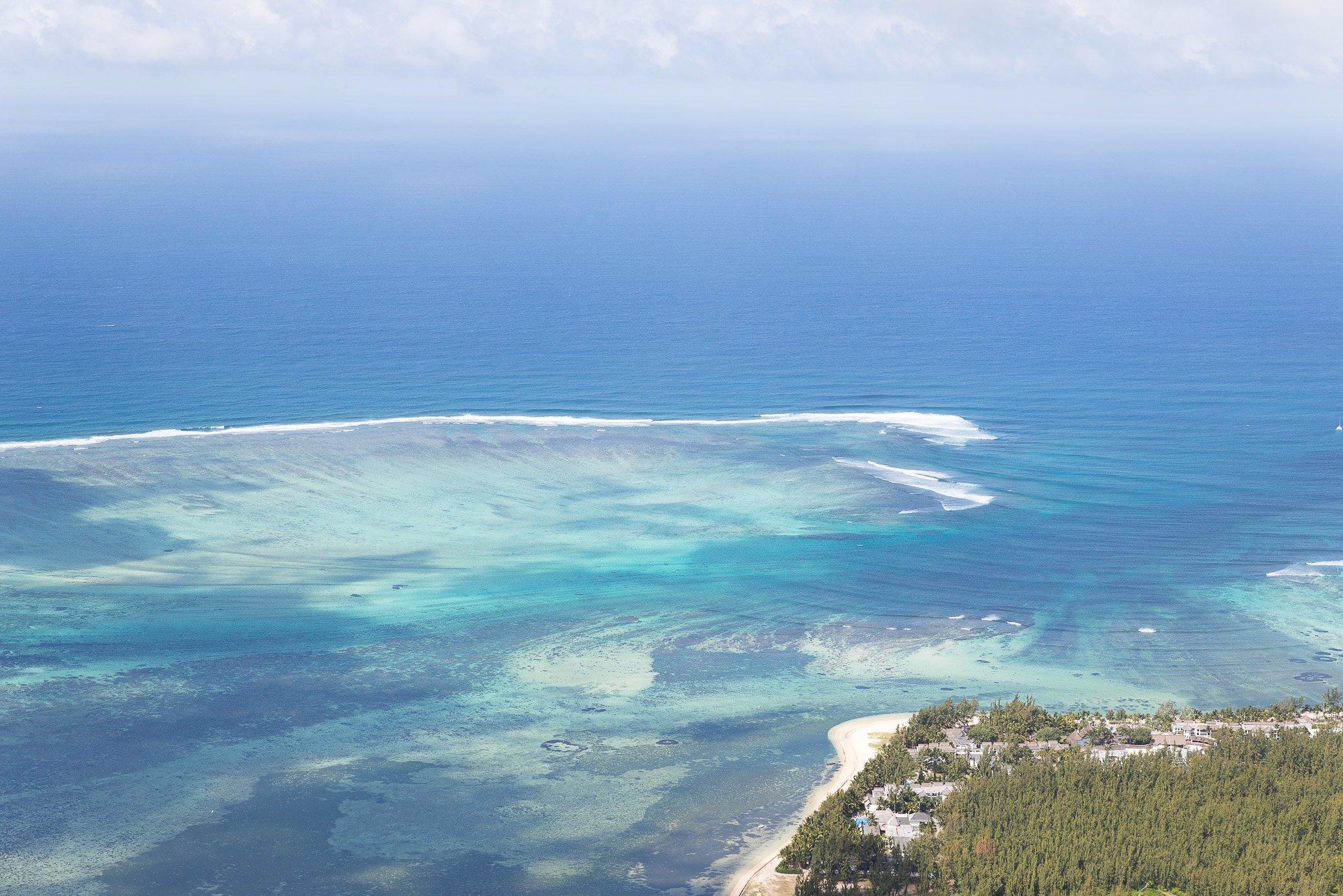océan lagon île maurice
