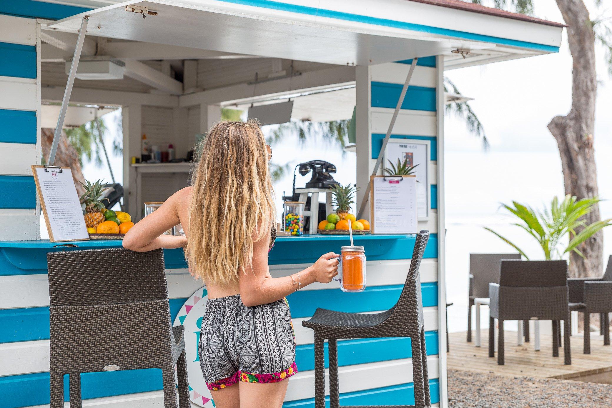 bar de plage jus fruits La Réunion