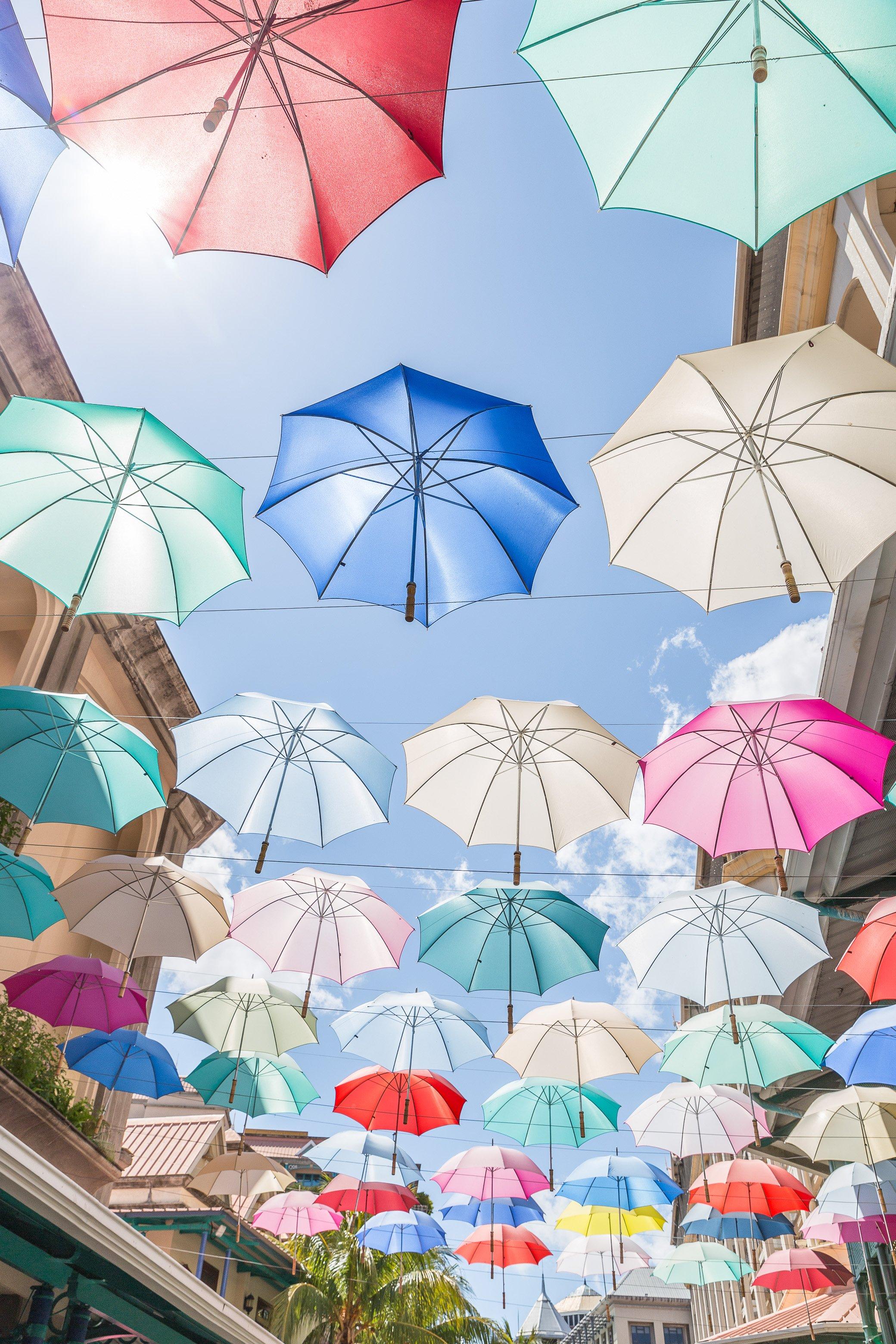 Parapluies à Port Louis