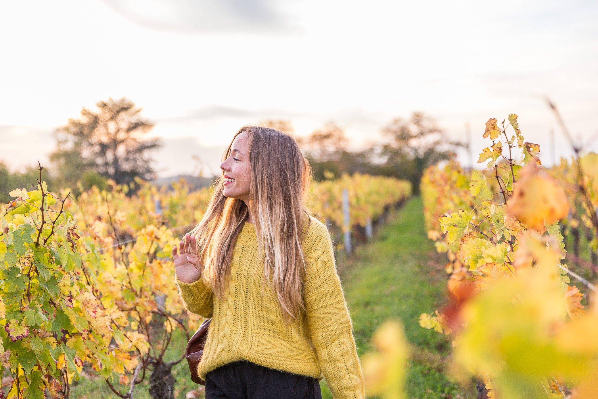 pull jaune couleurs automne