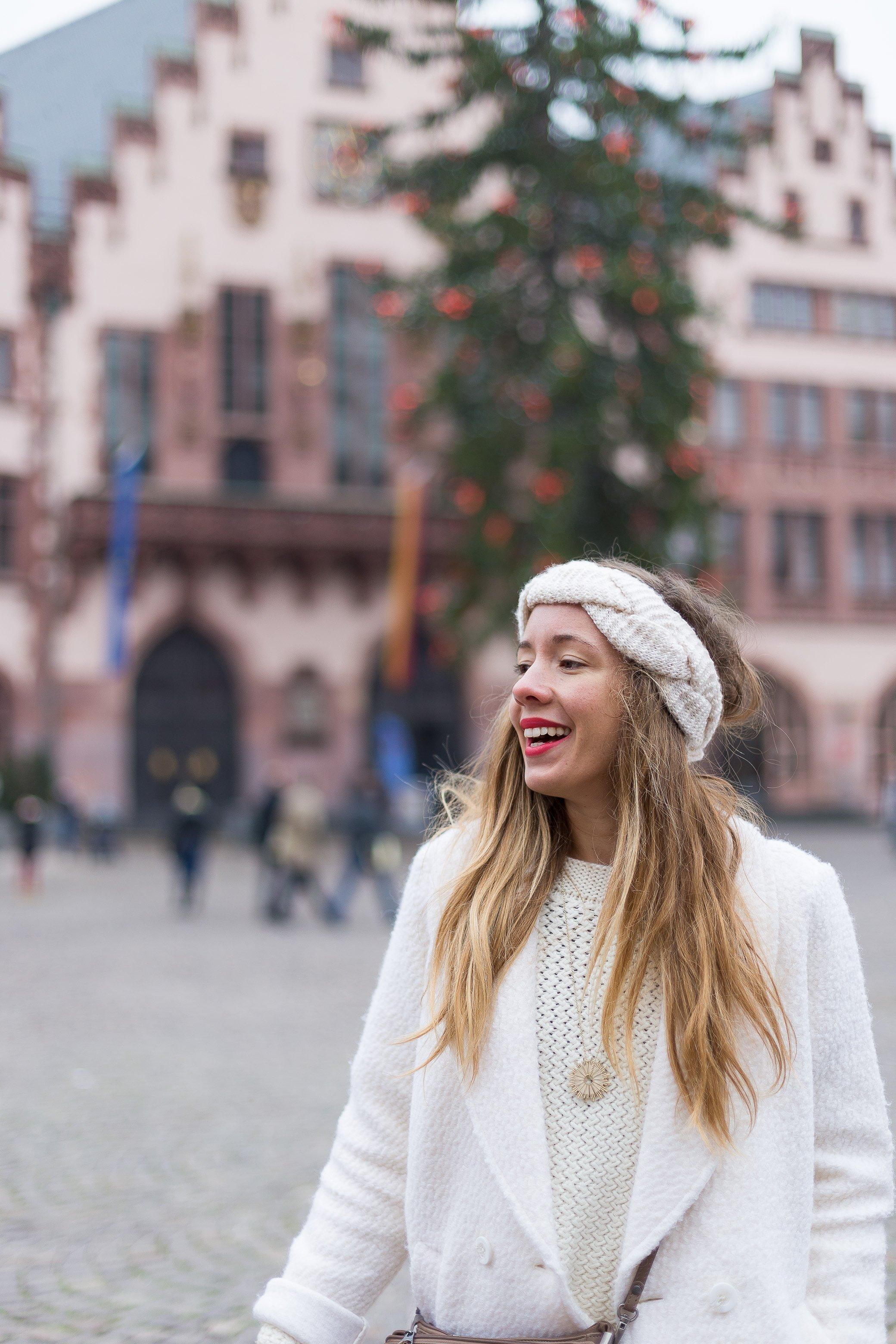 manteau blanc en laine hiver