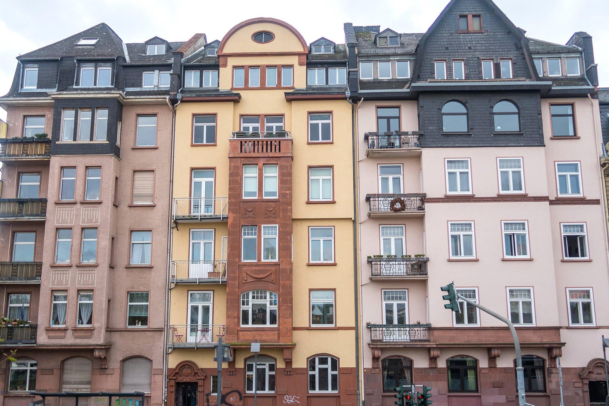 Maisons colorées Francfort