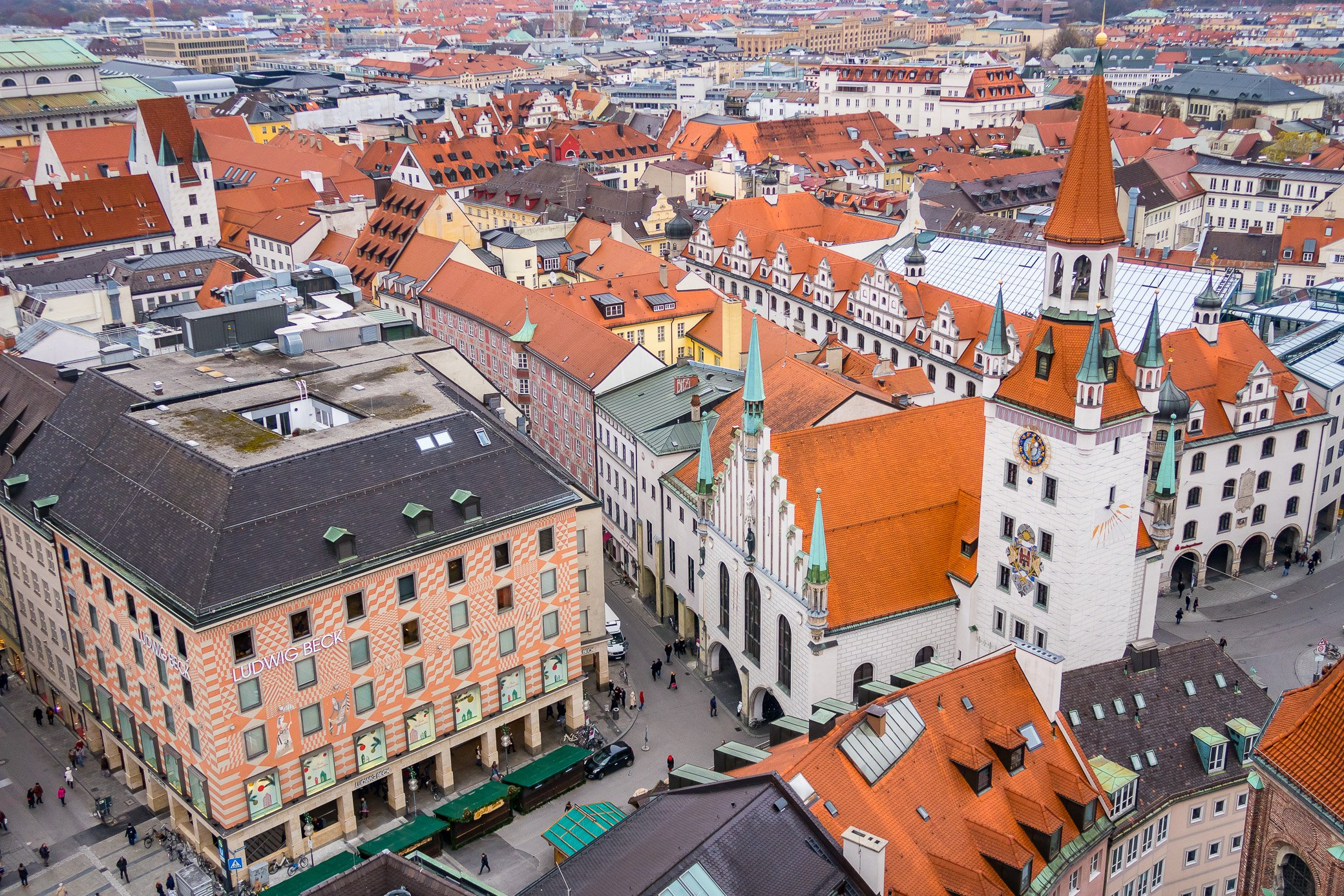 Munich toits Marienplatz