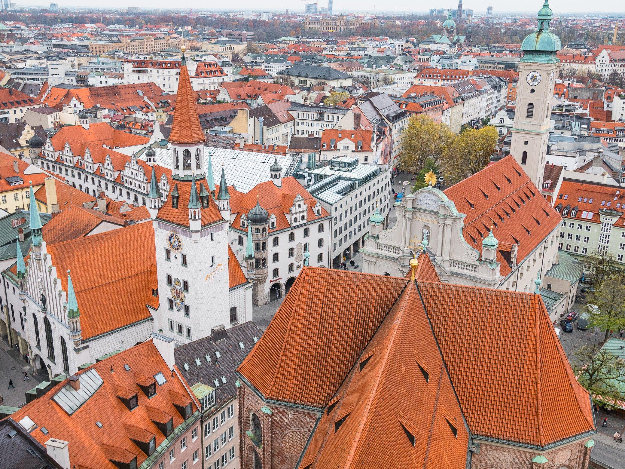vue sur les toits de Munich