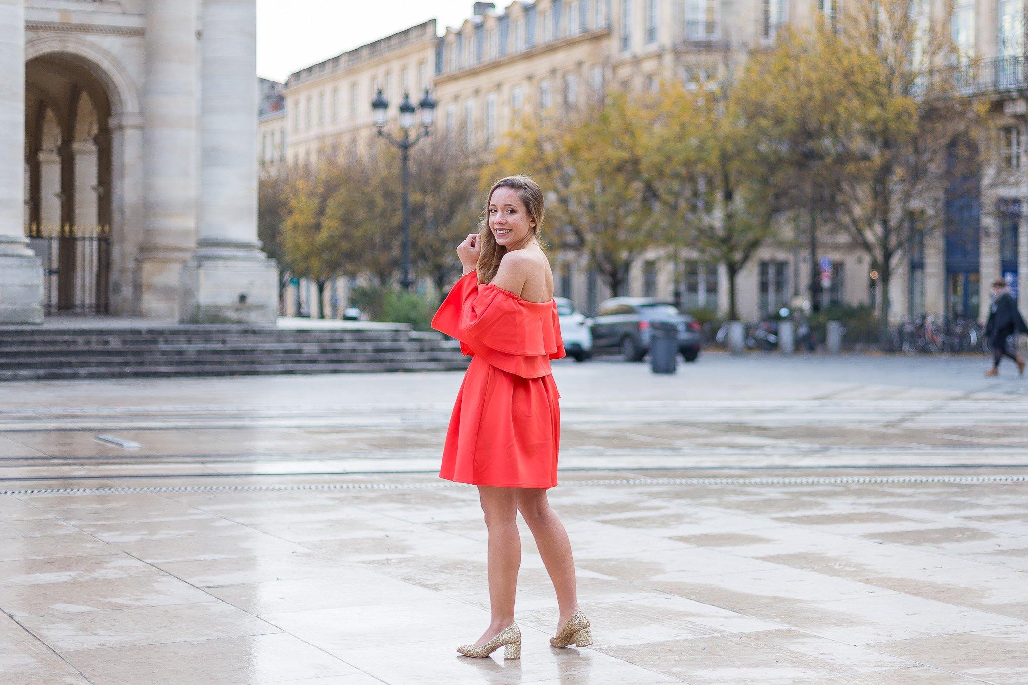 robe de fête rouge